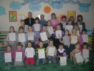 Laureaci konkursu plastycznego dla przedszkoli