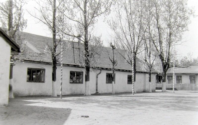 Budynek kina na Nowym Placu Fabrycznym. Zdjęcie wykonane przez Jana Nosowicza w latach 60-tych.