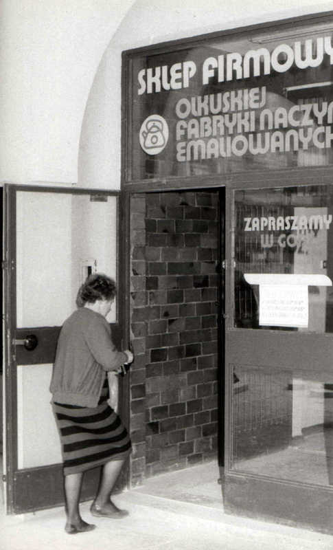 Sklep firmowy OFNE, Lata 80-te. Fot. Jan Nosowicz.