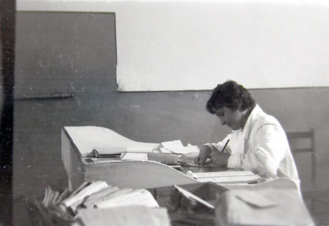 Rejestracja w przychodni przeciwgruźliczej. Lata 50-te. Fot. Jan  Nosowicz.