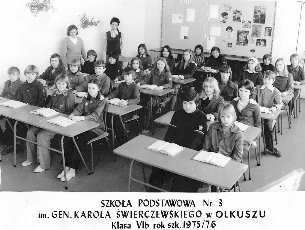 14. Uczniowie SP nr 3, rok 1975. Fot. Ze zbiorów Piotra Nogiecia.