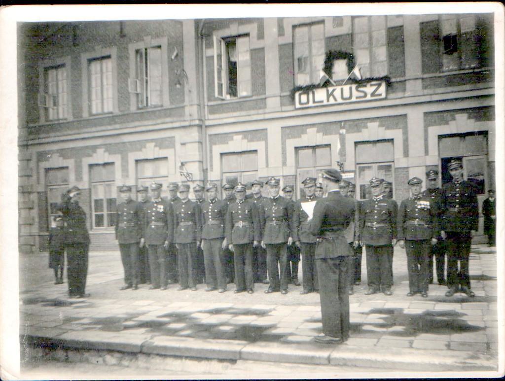 5. Przysposobienie Wojskowe PKP Olkusz. 3 V 1939r. Fot. ze zbiorów  Piotra Nogiecia.