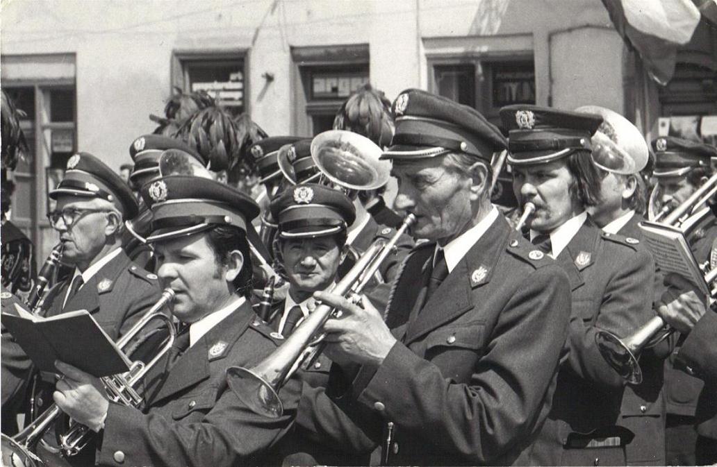 29. Orkiestra dęta OFNE. Lata 70-te. Fot. Z archiwum Wiesława Drygały.