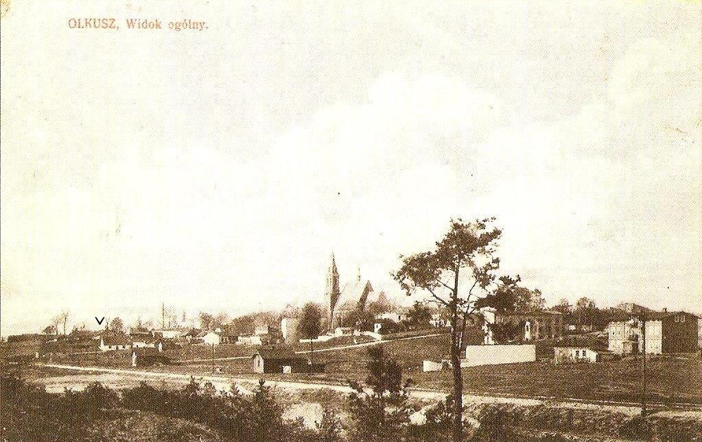 16. Lokalizacja dworków Janikowskich i Maliszewskich ok. 1916 roku. Fot. Pocztówka.