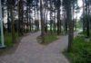 ławki park przy biema