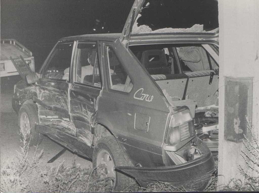5. Polonez po wypadku. Fot. Jan Nosowicz.