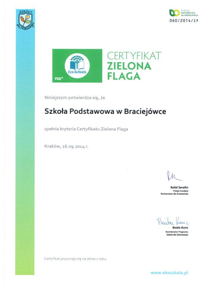 brac certyfikat