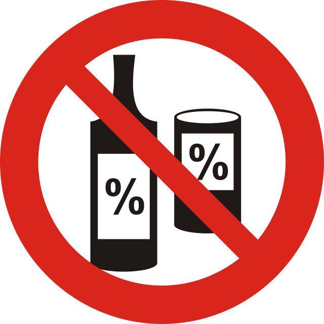 zakaz alkohol