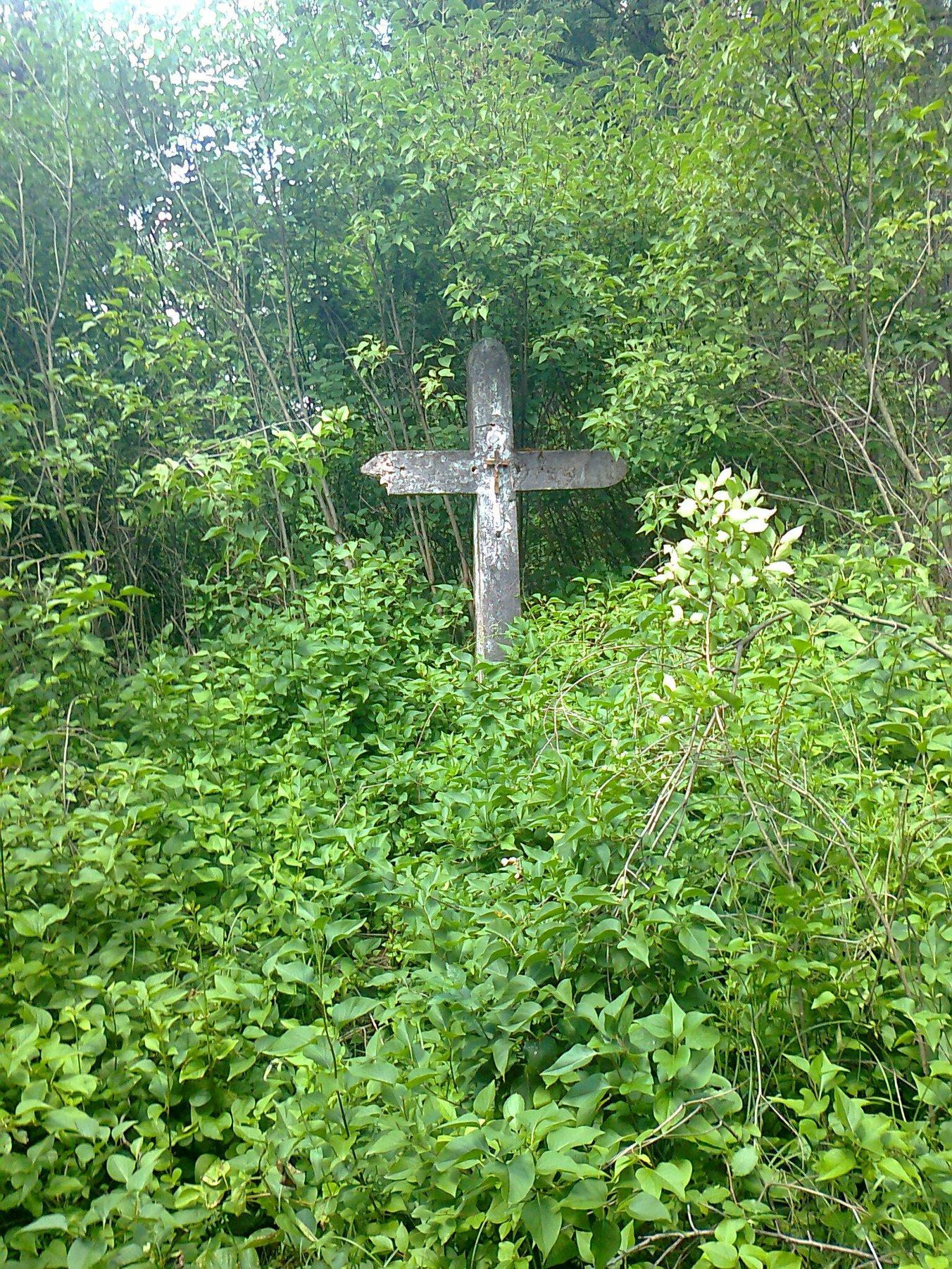 I ten sam krzyż tylko w wiosennych bzach. fot