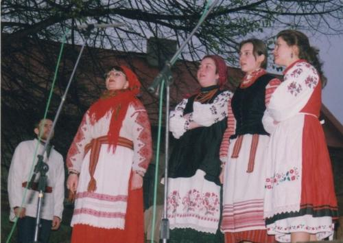 Letnia scena Baszty zespół Drevo 1999 rok, fot. Adam Sowula