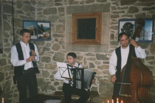 Koncert muzyki klezmerskiej Maciek Włodarczyk, Jacek Hołubowski i Roman Ślazyk, fot. Olgerd Dziechciarz