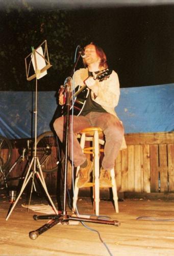 Trycjator z Krainy Lempu solowy występ na letniej scenie Baszty, fot. AA Baszta