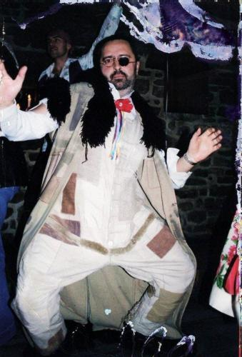Sylwester w 1998 lub 1999, architekt Czarek Milka, fot. AA Baszta