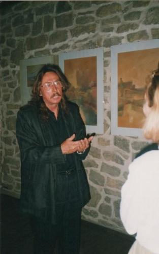 Wernisaż wystawy malarstwa Czesława Gałużnego, pocz. lat 90., fot. arch. PO